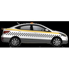 Оклейка такси для Московской Области по ГОСТу