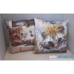 Печать изображения и логотипов на подушках